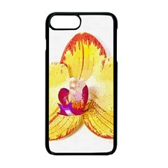 Phalaenopsis Yellow Flower, Floral Oil Painting Art Apple Iphone 7 Plus Seamless Case (black) by picsaspassion