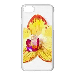Phalaenopsis Yellow Flower, Floral Oil Painting Art Apple Iphone 7 Seamless Case (white) by picsaspassion