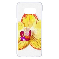Phalaenopsis Yellow Flower, Floral Oil Painting Art Samsung Galaxy S8 Plus White Seamless Case by picsaspassion