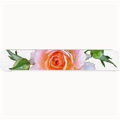 Pink Rose Flower, Floral Oil Painting Art Small Bar Mats by picsaspassion