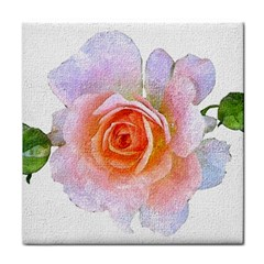 Pink Rose Flower, Floral Oil Painting Art Face Towel by picsaspassion