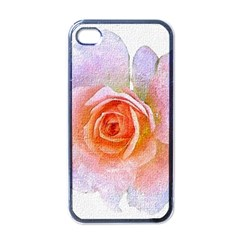 Pink Rose Flower, Floral Oil Painting Art Apple Iphone 4 Case (black) by picsaspassion