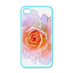 Pink Rose Flower, Floral Oil Painting Art Apple Iphone 4 Case (color) by picsaspassion