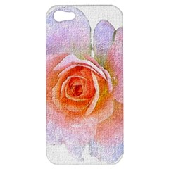 Pink Rose Flower, Floral Oil Painting Art Apple Iphone 5 Hardshell Case by picsaspassion