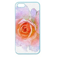 Pink Rose Flower, Floral Oil Painting Art Apple Seamless Iphone 5 Case (color) by picsaspassion