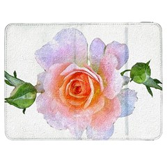 Pink Rose Flower, Floral Oil Painting Art Samsung Galaxy Tab 7  P1000 Flip Case by picsaspassion