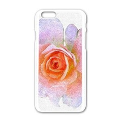 Pink Rose Flower, Floral Oil Painting Art Apple Iphone 6/6s White Enamel Case by picsaspassion