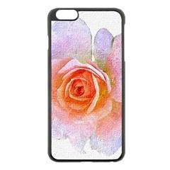 Pink Rose Flower, Floral Oil Painting Art Apple Iphone 6 Plus/6s Plus Black Enamel Case by picsaspassion