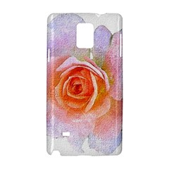Pink Rose Flower, Floral Oil Painting Art Samsung Galaxy Note 4 Hardshell Case by picsaspassion