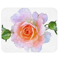 Pink Rose Flower, Floral Oil Painting Art Double Sided Flano Blanket (medium)  by picsaspassion