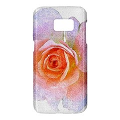 Pink Rose Flower, Floral Oil Painting Art Samsung Galaxy S7 Hardshell Case