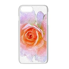 Pink Rose Flower, Floral Oil Painting Art Apple Iphone 7 Plus Seamless Case (white) by picsaspassion
