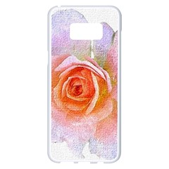 Pink Rose Flower, Floral Oil Painting Art Samsung Galaxy S8 Plus White Seamless Case