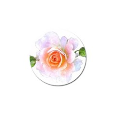 Pink Rose Flower, Floral Watercolor Aquarel Painting Art Golf Ball Marker (10 Pack) by picsaspassion