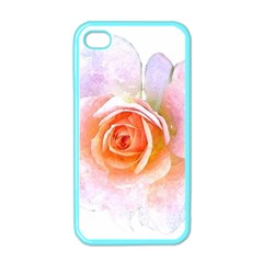 Pink Rose Flower, Floral Watercolor Aquarel Painting Art Apple Iphone 4 Case (color) by picsaspassion