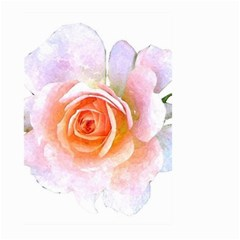 Pink Rose Flower, Floral Watercolor Aquarel Painting Art Large Garden Flag (two Sides) by picsaspassion