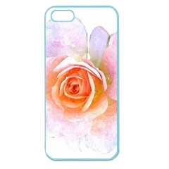 Pink Rose Flower, Floral Watercolor Aquarel Painting Art Apple Seamless Iphone 5 Case (color) by picsaspassion
