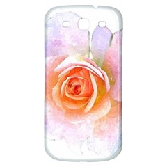 Pink Rose Flower, Floral Watercolor Aquarel Painting Art Samsung Galaxy S3 S Iii Classic Hardshell Back Case by picsaspassion