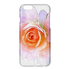 Pink Rose Flower, Floral Watercolor Aquarel Painting Art Apple Iphone 6 Plus/6s Plus Hardshell Case by picsaspassion