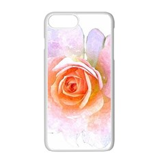 Pink Rose Flower, Floral Watercolor Aquarel Painting Art Apple Iphone 7 Plus Seamless Case (white) by picsaspassion