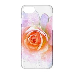 Pink Rose Flower, Floral Watercolor Aquarel Painting Art Apple Iphone 8 Hardshell Case by picsaspassion