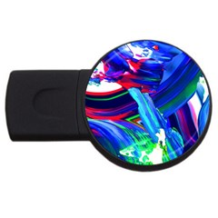 Abstract Acryl Art Usb Flash Drive Round (4 Gb) by tarastyle