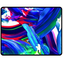 Abstract Acryl Art Double Sided Fleece Blanket (medium)  by tarastyle
