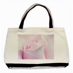 Rose Pink Flower, Floral Aquarel   Watercolor Painting Art Basic Tote Bag by picsaspassion