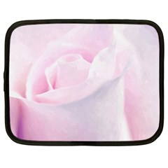 Rose Pink Flower, Floral Aquarel   Watercolor Painting Art Netbook Case (xxl)  by picsaspassion