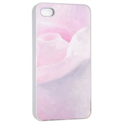 Rose Pink Flower, Floral Aquarel   Watercolor Painting Art Apple Iphone 4/4s Seamless Case (white) by picsaspassion