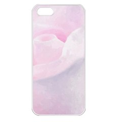Rose Pink Flower, Floral Aquarel   Watercolor Painting Art Apple Iphone 5 Seamless Case (white) by picsaspassion