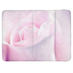 Rose Pink Flower, Floral Aquarel   Watercolor Painting Art Samsung Galaxy Tab 7  P1000 Flip Case by picsaspassion