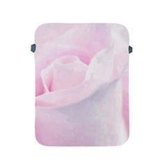 Rose Pink Flower, Floral Aquarel   Watercolor Painting Art Apple Ipad 2/3/4 Protective Soft Cases by picsaspassion