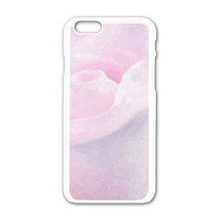 Rose Pink Flower, Floral Aquarel   Watercolor Painting Art Apple Iphone 6/6s White Enamel Case by picsaspassion