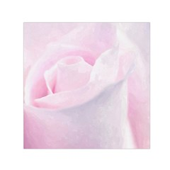 Rose Pink Flower, Floral Aquarel   Watercolor Painting Art Small Satin Scarf (square) by picsaspassion