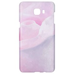 Rose Pink Flower, Floral Aquarel   Watercolor Painting Art Samsung C9 Pro Hardshell Case  by picsaspassion