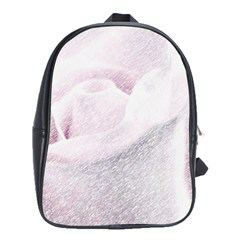 Rose Pink Flower  Floral Pencil Drawing Art School Bag (large) by picsaspassion
