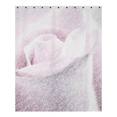 Rose Pink Flower  Floral Pencil Drawing Art Shower Curtain 60  X 72  (medium)  by picsaspassion