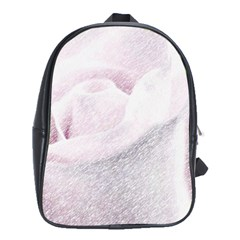 Rose Pink Flower  Floral Pencil Drawing Art School Bag (xl)