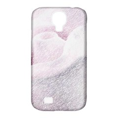 Rose Pink Flower  Floral Pencil Drawing Art Samsung Galaxy S4 Classic Hardshell Case (pc+silicone) by picsaspassion