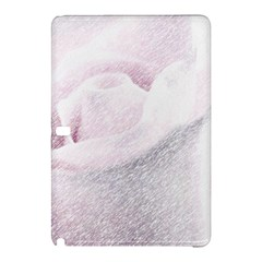 Rose Pink Flower  Floral Pencil Drawing Art Samsung Galaxy Tab Pro 10 1 Hardshell Case by picsaspassion