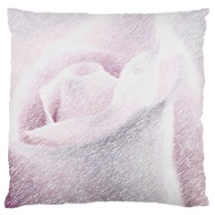 Rose Pink Flower  Floral Pencil Drawing Art Standard Flano Cushion Case (two Sides) by picsaspassion