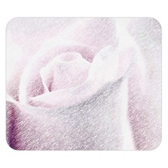 Rose Pink Flower  Floral Pencil Drawing Art Double Sided Flano Blanket (small)  by picsaspassion