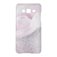Rose Pink Flower  Floral Pencil Drawing Art Samsung Galaxy A5 Hardshell Case  by picsaspassion