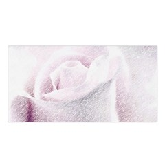 Rose Pink Flower  Floral Pencil Drawing Art Satin Shawl by picsaspassion