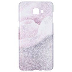 Rose Pink Flower  Floral Pencil Drawing Art Samsung C9 Pro Hardshell Case  by picsaspassion