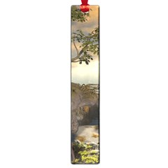The Lonely Wolf On The Flying Rock Large Book Marks by FantasyWorld7
