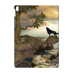 The Lonely Wolf On The Flying Rock Apple Ipad Pro 10 5   Hardshell Case by FantasyWorld7