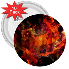 Abstract Acryl Art 3  Buttons (10 Pack)  by tarastyle