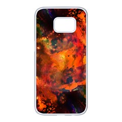 Abstract Acryl Art Samsung Galaxy S7 Edge White Seamless Case by tarastyle